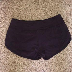 "Lululemon Speed Up Short 2.5"" Rare Purple Size 4"